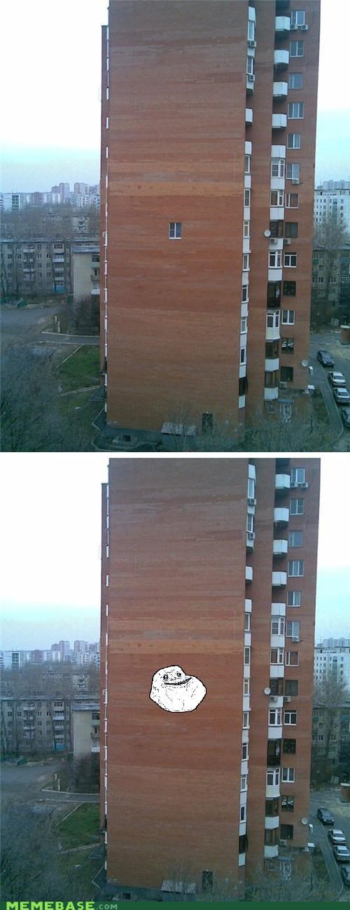 building,forever alone,IRL,window,wtf