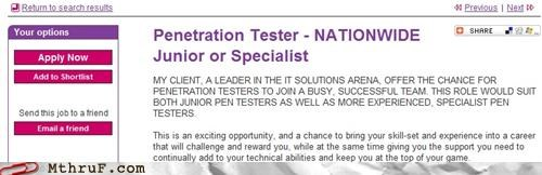 dick joke job ad penetration
