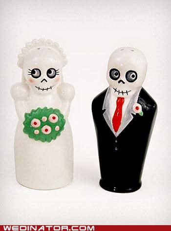 cake toppers,funny wedding photos,skeletons