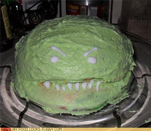 cake,face,green,monster