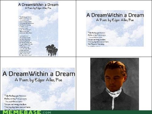 dream,Inception,leonardo,poe,within a dream,yo dawg