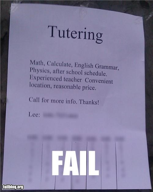 failboat grammar g rated irony school spelling tutoring - 4941033472