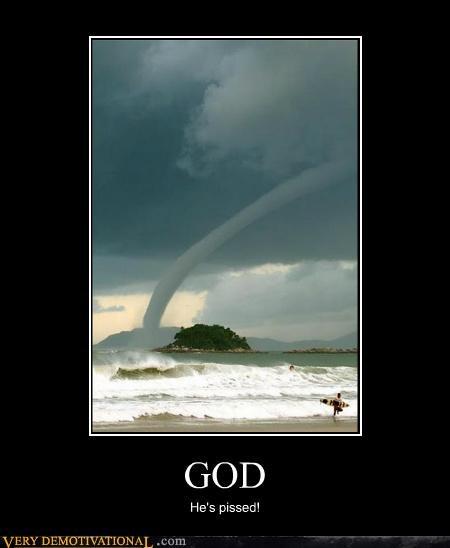 god tornado island ocean funny - 4941117440