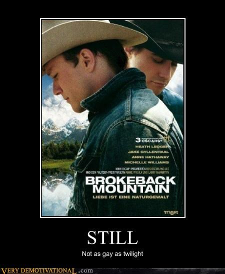 brokeback mountain,gay,hilarious,Movie,twilight,wtf