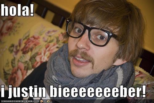 hipsterlulz justin bieber Mexican mustache - 4941365504
