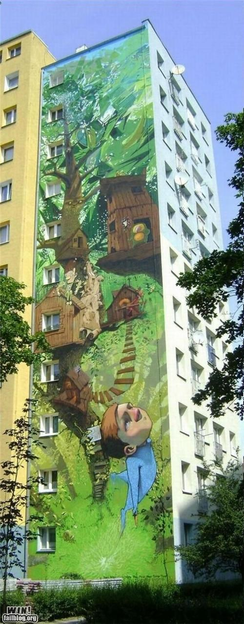 awesome buildings graffiti hacked irl nature - 4941454592