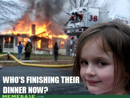 dinner evil finishing girl Memes tables turned - 4941578240