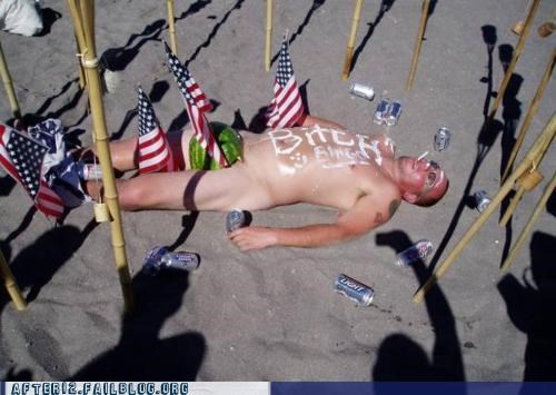 america,beach,keystone light,passed out