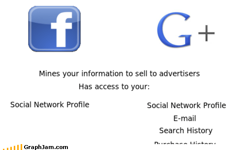 facebook google google plus social networking
