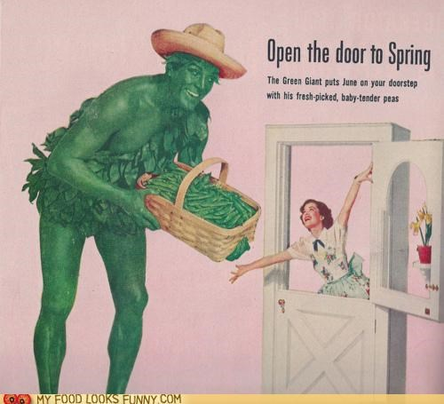 Ad,advertising,green beans,jolly green giant,spring