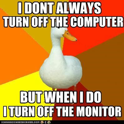 computer lights monitor plug Technologically Impaired Duck the most interesting - 4942045952