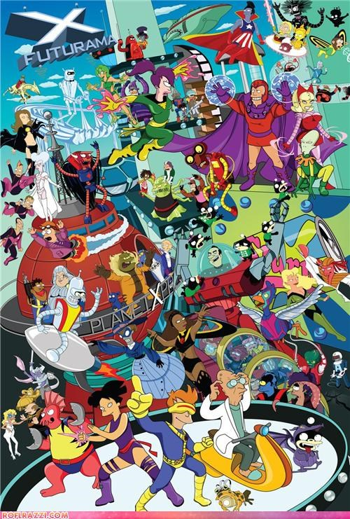 animation art cool futurama Hall of Fame x men - 4942074112