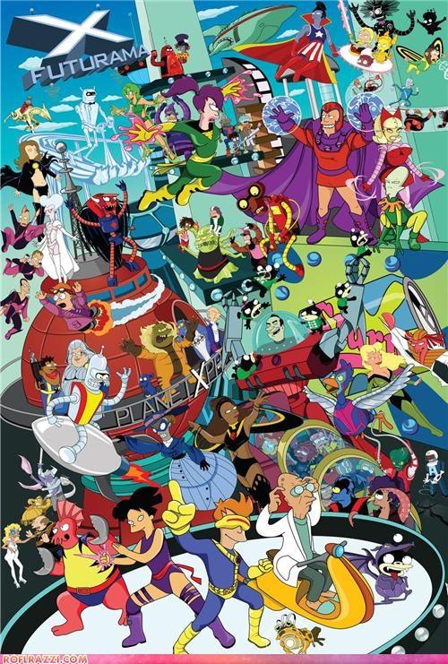animation art cool futurama Hall of Fame x men - 4942074112