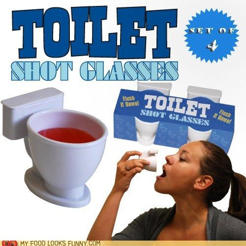 alcohol booze shot glass shots toilet - 4942294784