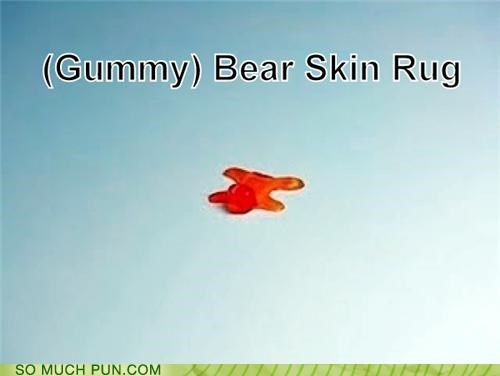 bear bear skin rug double meaning gummy gummy bear Hall of Fame literalism rug skin - 4942404096
