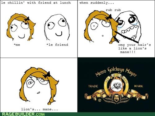 hair lion mane Rage Comics - 4942541056