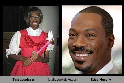 cosplay,cosplayer,eddie murphy,red dress