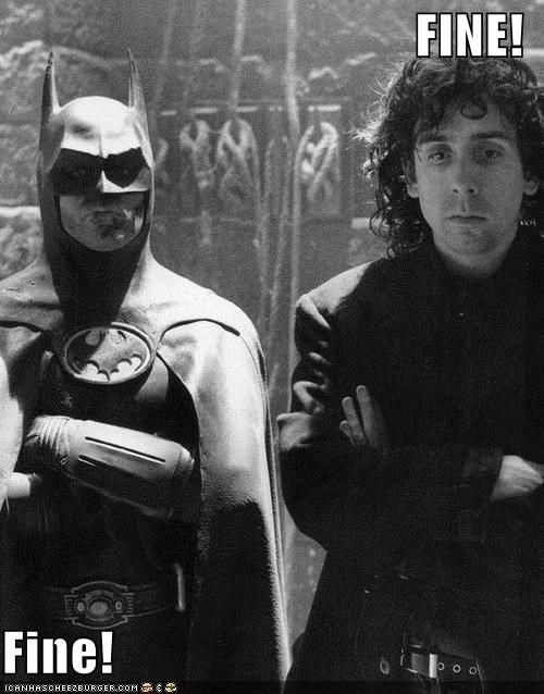 actor,batman,celeb,director,funny,Michael Keaton,tim burton