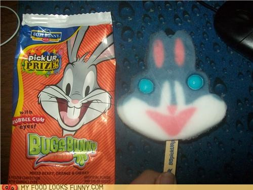 bubble gum,bugs bunny,derp,eyes,popsicle