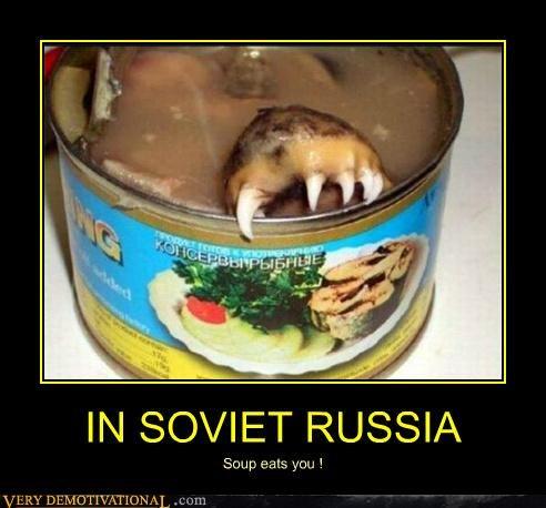 creature creepy soup Soviet Russia Terrifying