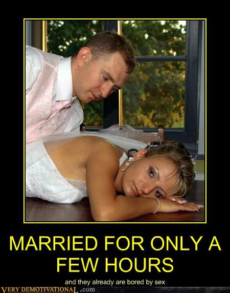 bored bride groom hilarious marriage sexy times wtf - 4944764672