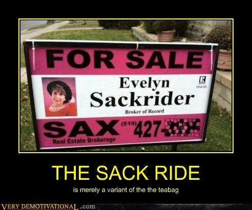 hilarious sign teabag wtf - 4944775424