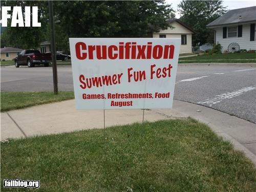 The Romans Are at it Again, this Time its in August and its Fun! Yard sign for a church