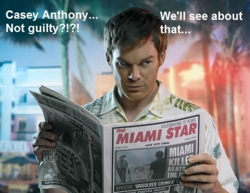 Casey Anthony,Dexter,Morning Links