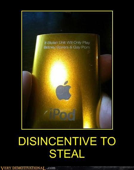 disincentive hilarious ipod stealing warning - 4945263104