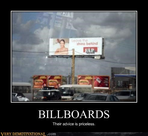 billboards fapping good idea hilarious