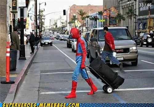 costume luggage public Spider-Man Superhero IRL - 4945554944