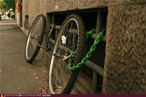 bicycle stolen wheels wtf - 4945703168