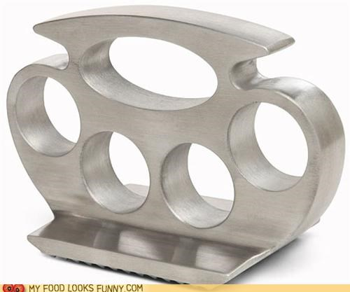 brass knuckles kitchen knuckle dusters meat tenderizer punch tool weapon - 4945715712