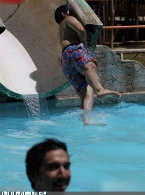 face,Impending Doom,pool,summer,water slide
