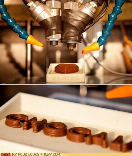 3D printer,chocolate,custom,science,technology