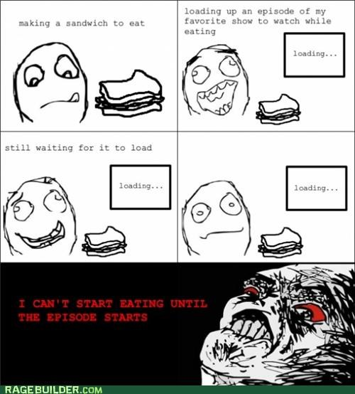 eating loading Rage Comics watching and eating