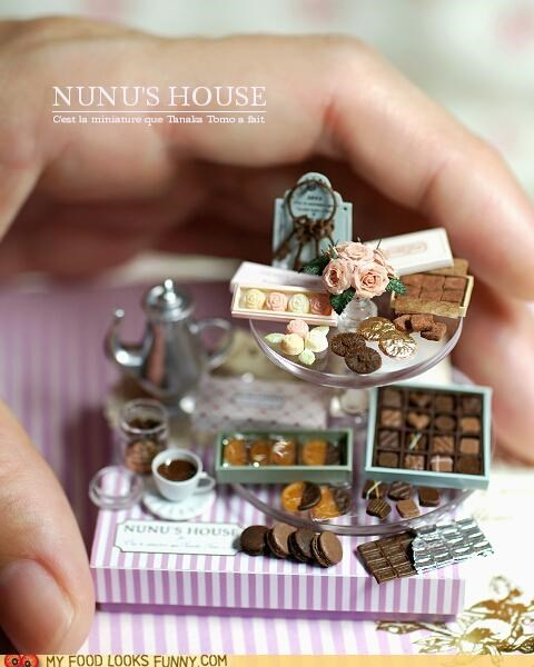 amazing chocolate coffee cookies food miniatures nunus-house snacks - 4945805568