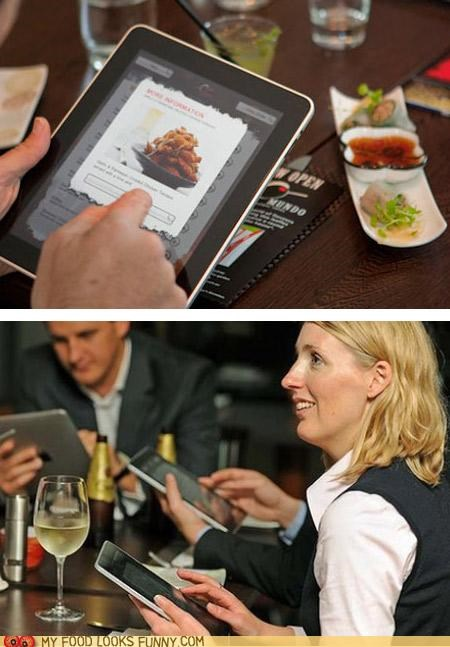 ipad,meal,menu,order,restaurant,technology,yuppies