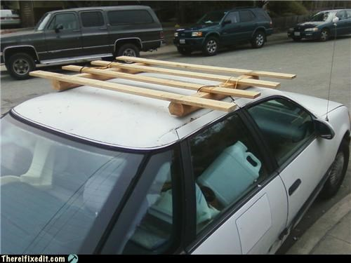 cars moving day roof rack woody