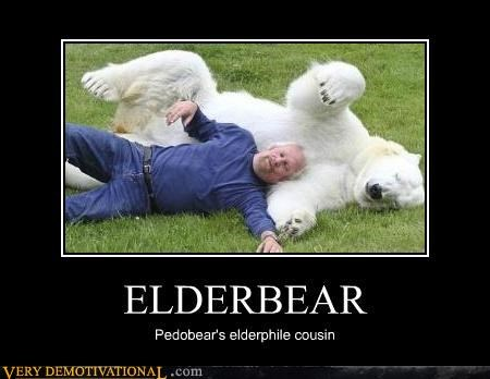 bear elderbear hilarious old guy pedobear wtf - 4946109440