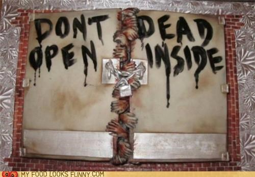 cake door hands lock scary The Walking Dead zombie
