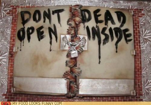 cake door hands lock scary The Walking Dead zombie - 4946130688