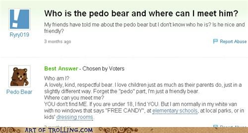 free candy friendly meet pedobear Yahoo Answer Fails - 4946493696