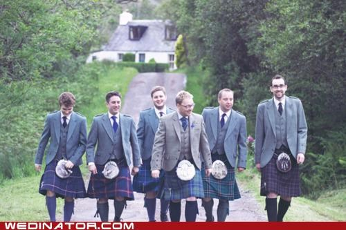 funny wedding photos,highlander,kilts,scotland