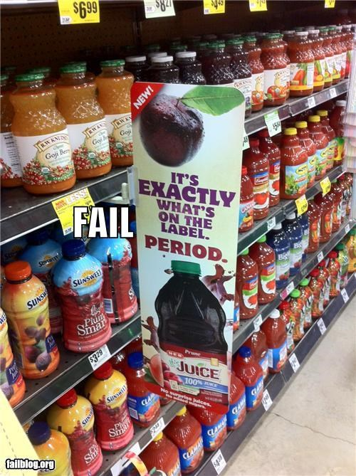 failboat grocery store gross innuendo lady business menstruation - 4946785280