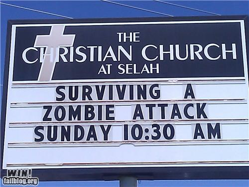 church,sermon,zombie