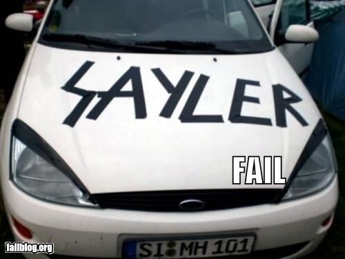 dyslexia failboat g rated metal Music slayer spelling