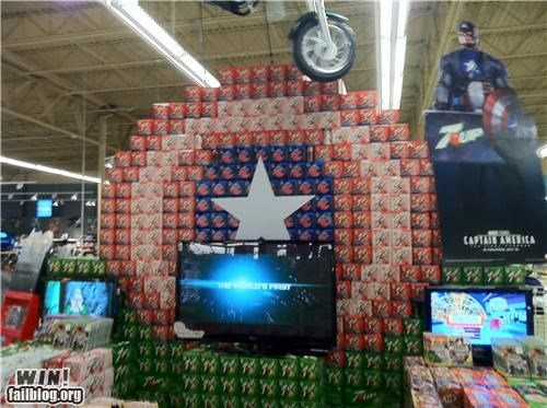 Captain America Shield 7up display win!