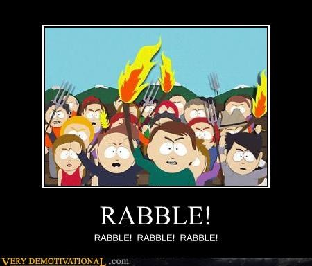 hilarious rabble South Park wtf