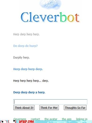 chat Cleverbot derp language